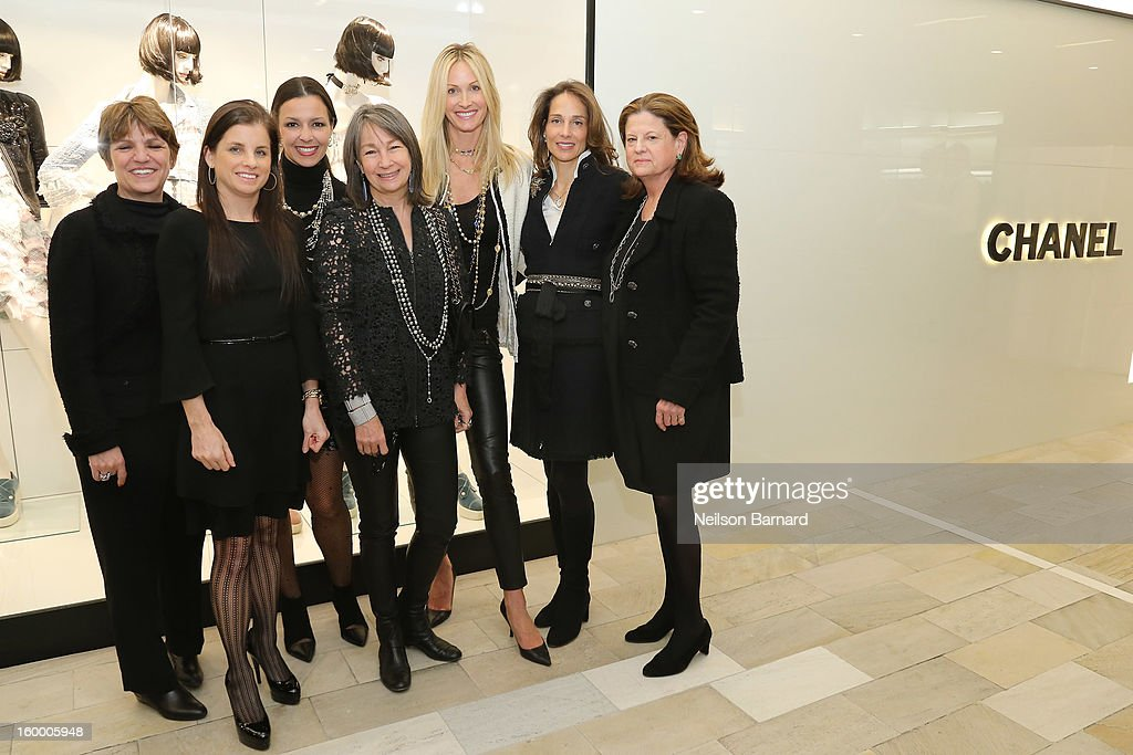 Bloomingdale's EVP/GMM Cosmetics, Fashion Accessories, and Fine Jewelry, Francine Klein, Lori Hall, Debra Perelman, Brooke Garber Neidich, Christine Mack, Marcia Mishaan and Bloomingdale's SVP Public Relations Anne Keating attend Bloomingdale's celebration of the newly renovated Chanel RTW Boutique at Bloomingdale's 59th Street Store on January 24, 2013 in New York City.