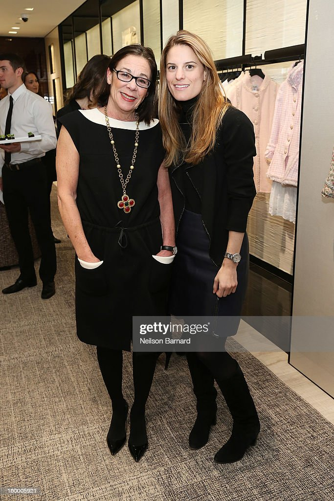 Bloomingdale's Fashion Director Stephanie Solomon (L) and Bloomingdale's Fashion Accessories Director Brooke Jaffe attend Bloomingdale's celebration of the newly renovated Chanel RTW Boutique at Bloomingdale's 59th Street Store on January 24, 2013 in New York City.