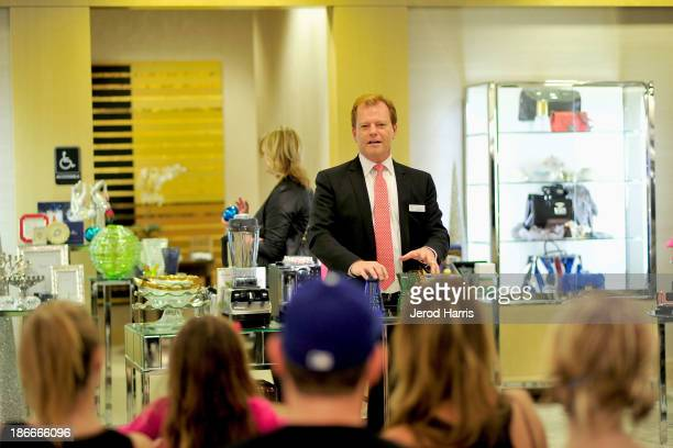 Bloomingdales South Coast Plaza General Manager Jim Murphy attends Heels2Heal shopping for CHOC at Bloomingdale's South Coast Plaza on November 2...
