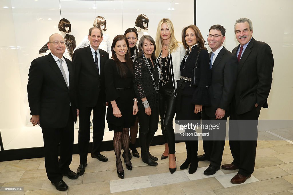 Bloomingdale's Vice Chairman/GMM RTW Frank Doroff, Bloomingdale's CEO Michael Gould, Lori Hall, Debra Perelman, Brooke Garber Neidich, Christine Mack, Marcia Mishaan, Bloomingdale's President Tony Spring and Dr. Koplewicz attend Bloomingdale's celebration of the newly renovated Chanel RTW Boutique at Bloomingdale's 59th Street Store on January 24, 2013 in New York City.