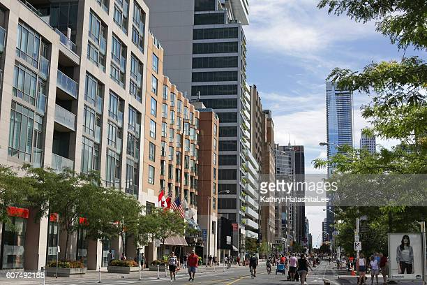 Bloor Street, Annex Neighbourhood, Toronto, Canada in Summer