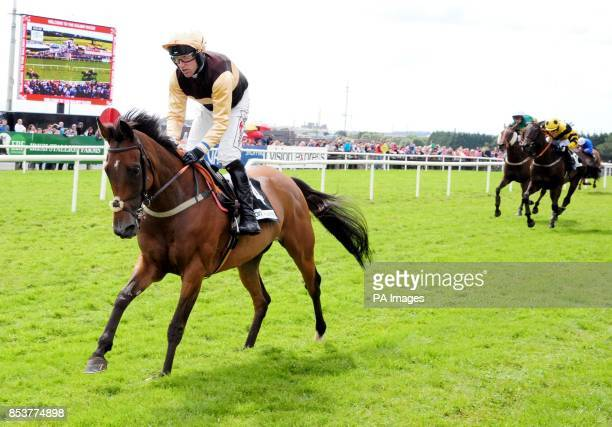 Blossom Gate and Robbie Power win the Vision Express Handicap Hurdle on day seven of the Galway Festival at Galway Racecourse Ireland