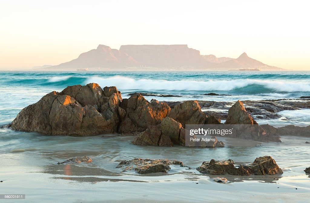 Bloubergstrand beach and Table Mountain, CapeTown