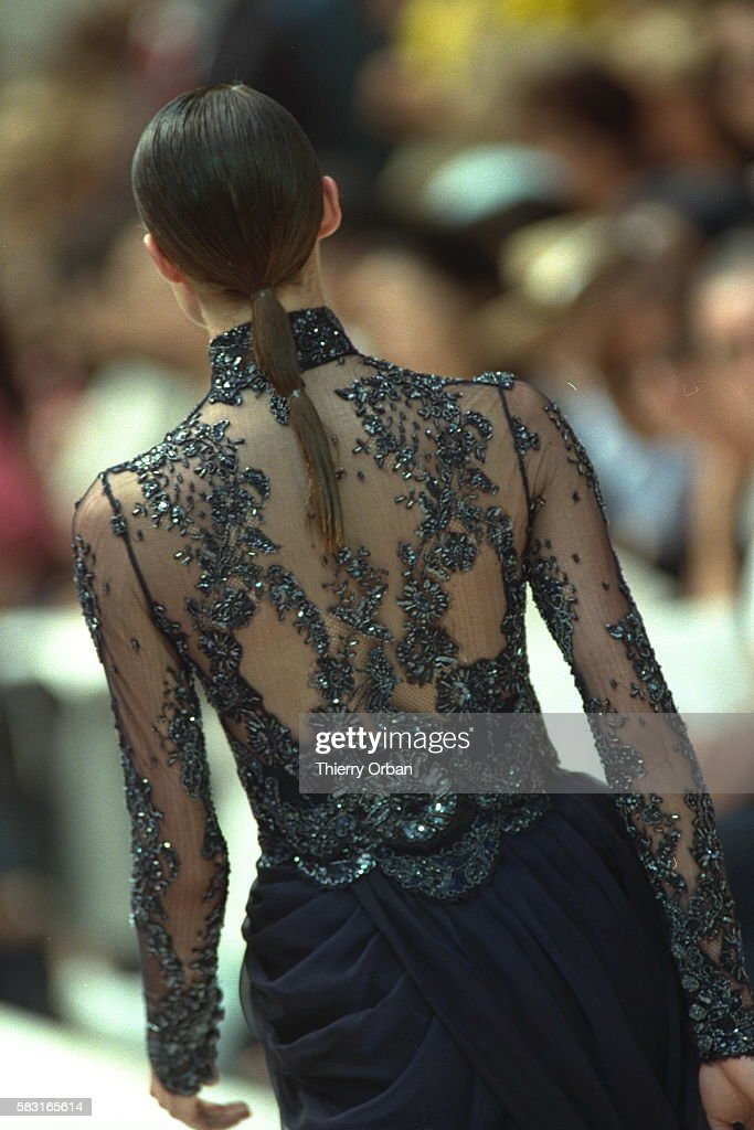 Blouse in embroidered tulle