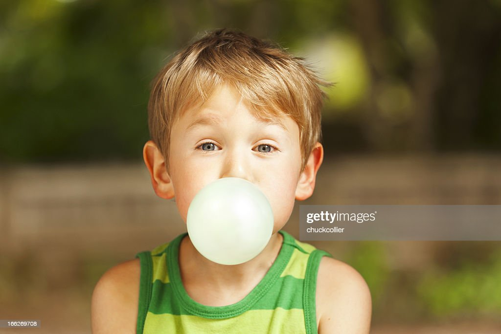 Blowing Bubble : Stock Photo