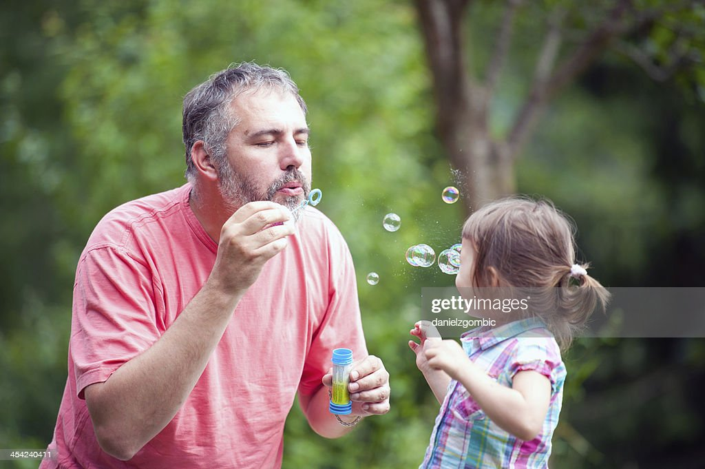 Blowing Bubbles : Stock Photo