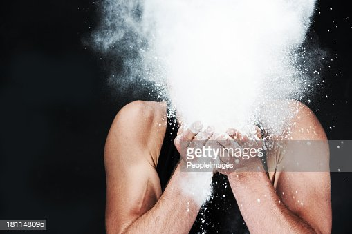 Blowing cocaine