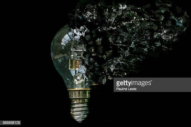 Blown light bulb