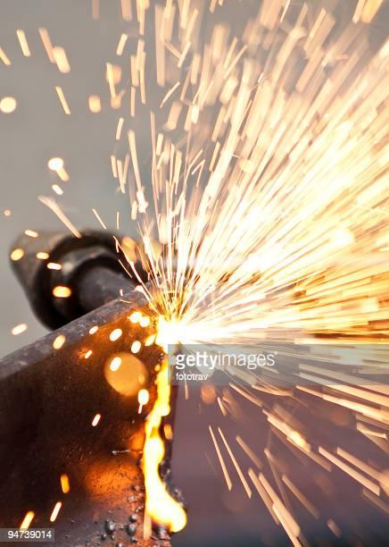 blowtorch du bâtiment chantier de construction