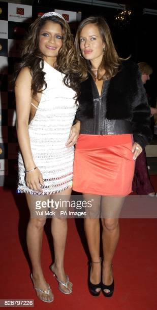 Blu Cantrell and Jade Jagger arrives for the Mastercard MOBO Awards 2003 at the Royal Albert Hall in London