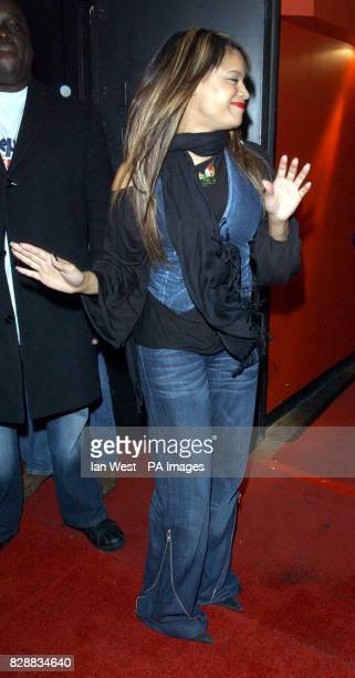 Blu Cantrell arrives for a party held by American singer Britney Spears at the Rex Cinema and Bar in central London