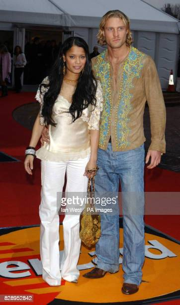 Blu Cantrell arriving at the annual Brit Awards 2004 at Earls Court in south west London