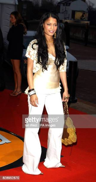 Blu Cantrell during the annual Brit Awards 2004 at Earls Court in south west London