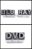 blu ray and dvd sign in block letters