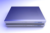 Two generic bluray / DVD devices. 3D rendered Illustration.