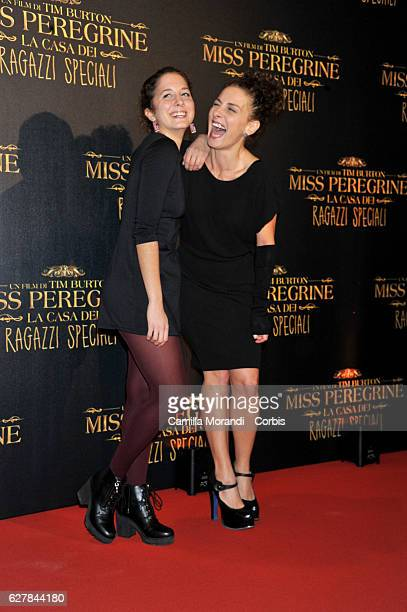 Blu Yoshimi and Lidia Vitale attend Burton's 'Miss Peregrine's Home for Peculiar Children' Premiere In Rome on December 5 2016 in Rome Italy