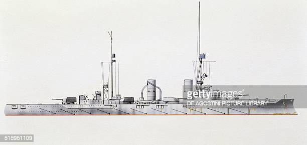 Blucher cruiser Germany drawing