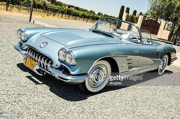 Blue 1958 Corvette