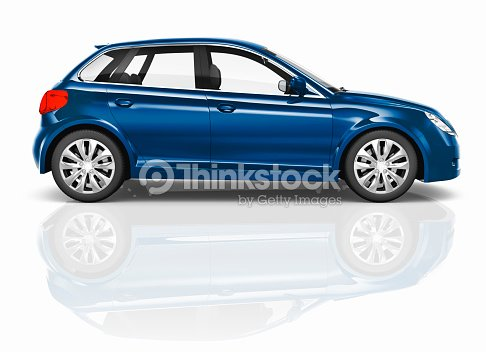 berline hayon arri re de voiture bleu 3d illustration photo thinkstock. Black Bedroom Furniture Sets. Home Design Ideas