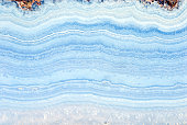 Blue agate rock slab