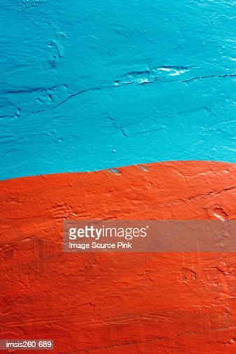 Blue and orange wall : Foto stock