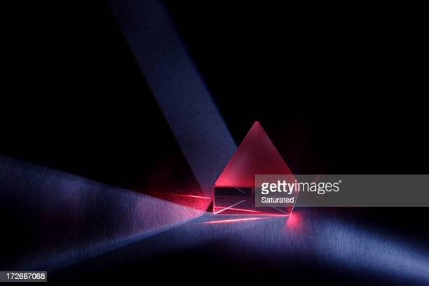 Blue and Red Light Through Prism