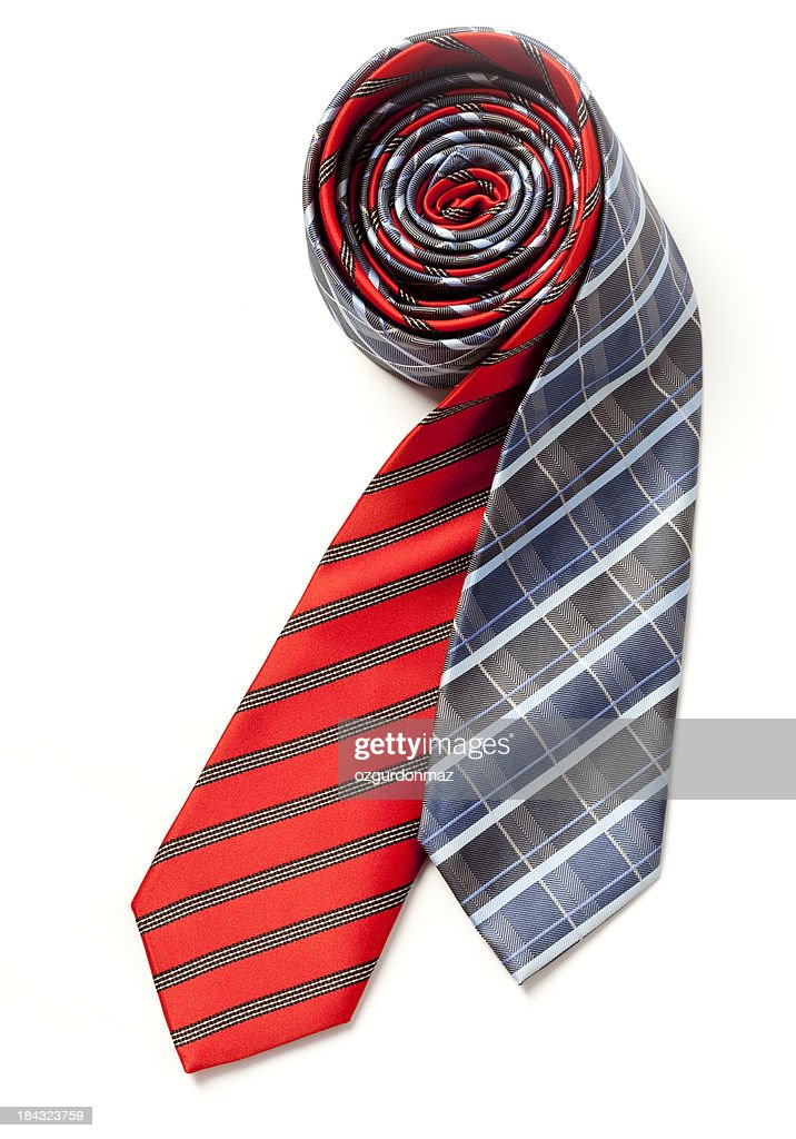 Blue and red silk ties