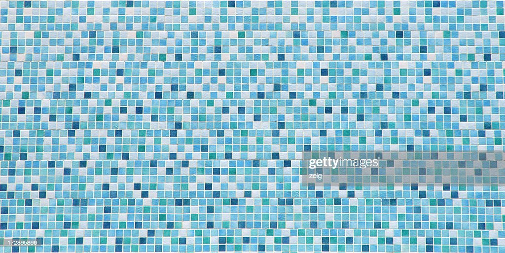 Blue and white bathroom tile background