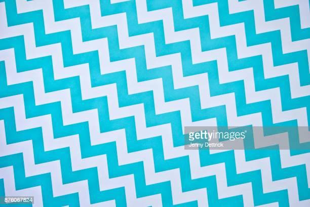 Blue and white chevron pattern