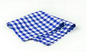 Blue and white napkin