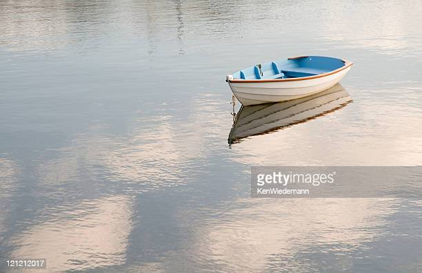 Blue and White Rowboat