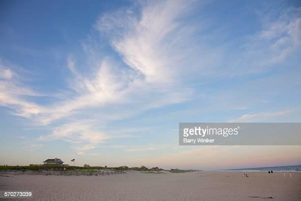 Blue and white sky at Westhampton Beach, NY