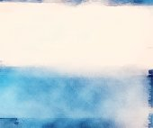 Blue and white watercolor waves