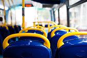 London's double decker bus empty seats