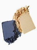 Blue and yellow powdered makeups