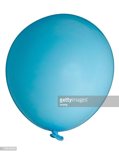 Blue Balloon With Clipping Path