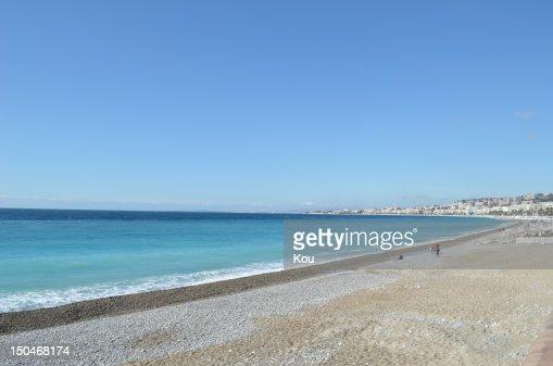 Blue beach : Stock Photo