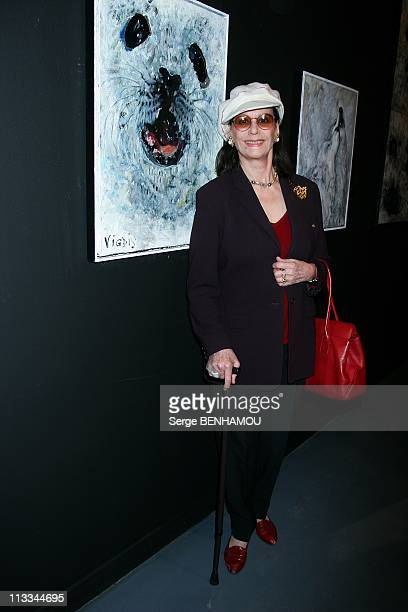 'Blue Bear' Exhibition At The Palais De La Decouverte In Paris France On September 22 2008 Claudine Auger