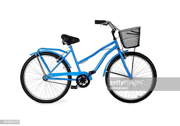 ブルーの自転車/フルクリッピングパス