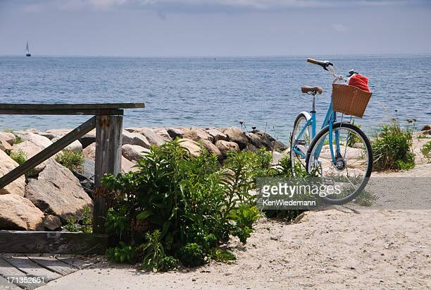 Blue Bike with Red Towel