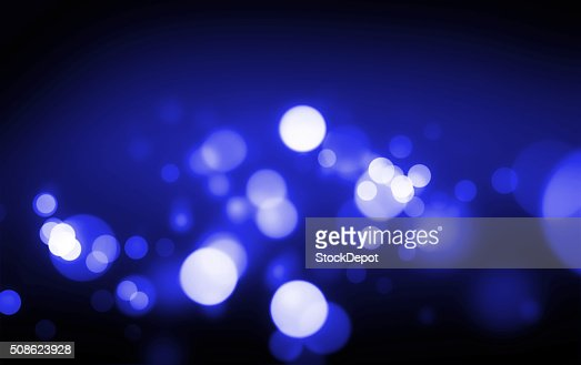 Blue Bokeh Lights on a Dark Background : Stock Photo
