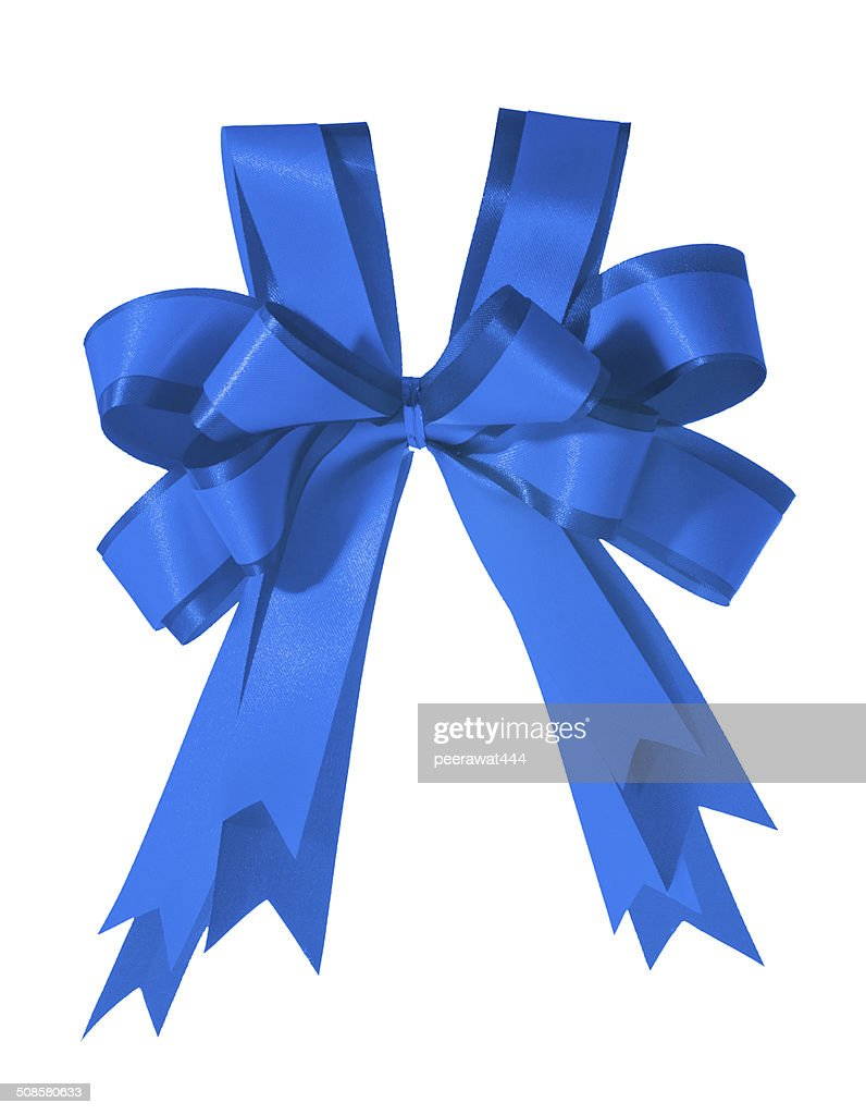 Blue Bow : Stock Photo