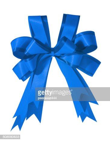 Blue Bow : Stockfoto