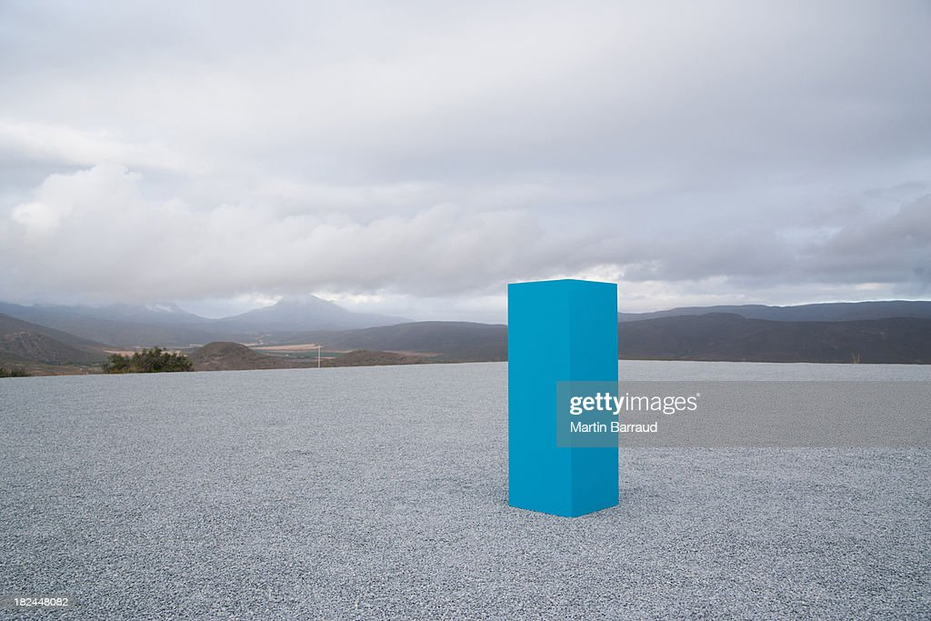Blue box outdoors