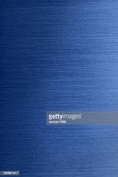 Metal cepillado fondo azul