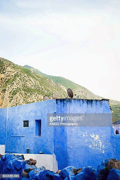 Blue Building by the Rif Mountains, Chefcahouen