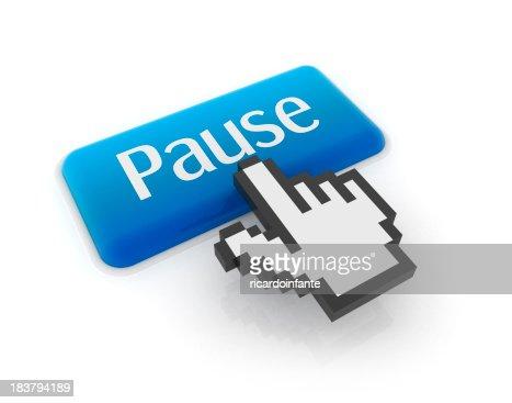 Cursore a forma di mano sul pulsante pause (PAUSA)