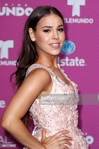 Danna Paola arrives at the 2015 Premios Tu Mundo at the American Airlines Arena in Miami Florida on August 20 2015 PREMIOS TU MUNDO 2015 Alfombra...