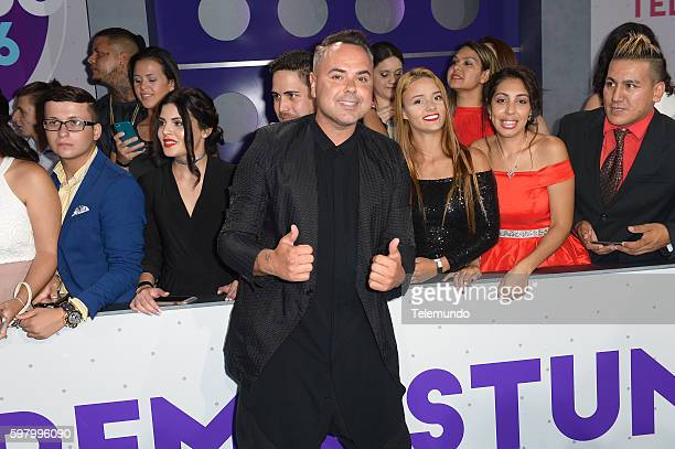 MUNDO 2016 'Blue Carpet' Pictured Juan Magan arrives at the 2016 Premios Tu Mundo at the American Airlines Arena in Miami Florida on August 25 2016