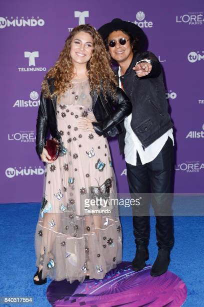 MUNDO 2017 'Blue Carpet' Pictured Periko y Jessi Leon arrives to the 2017 Premios Tu Mundo at the American Airlines Arena in Miami Florida on August...
